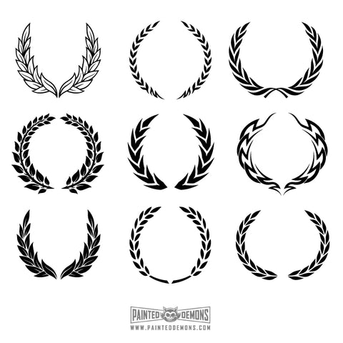 WREATHS VECTOR ART