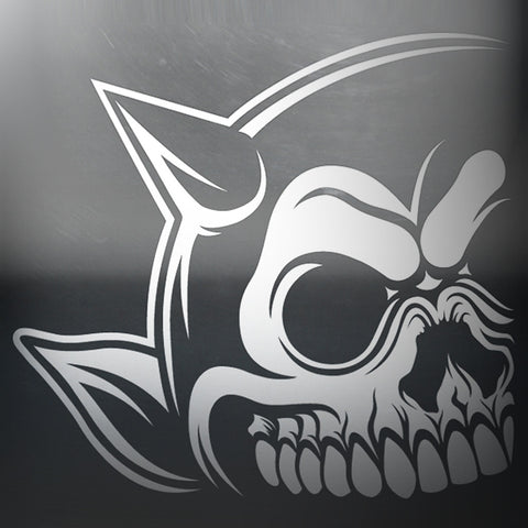 Left Horn - Skull Car Decal
