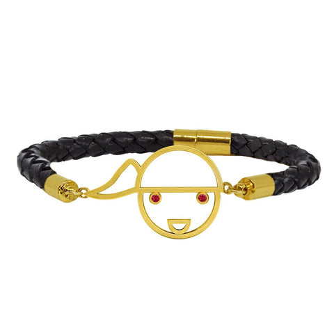 Bamar Black Leather Bracelet (M)