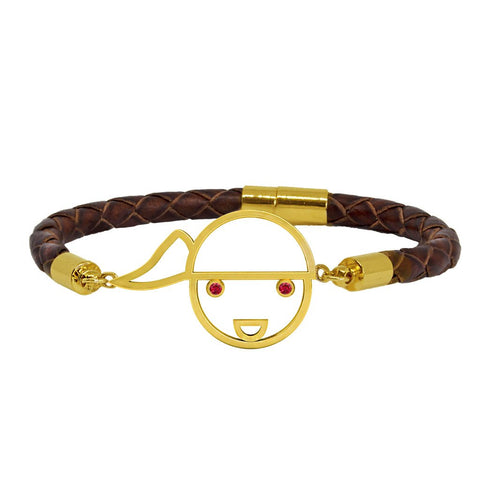 Bamar Brown Leather Bracelet (M)
