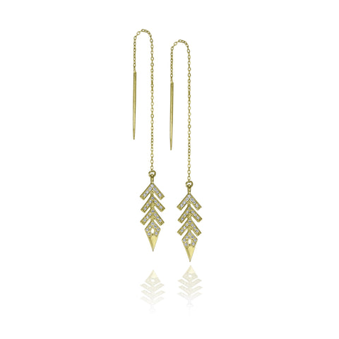 Aya Threader Earrings