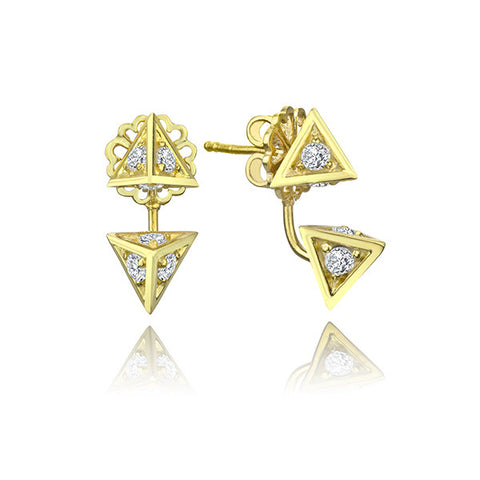 Double Pyramid Ear Jackets