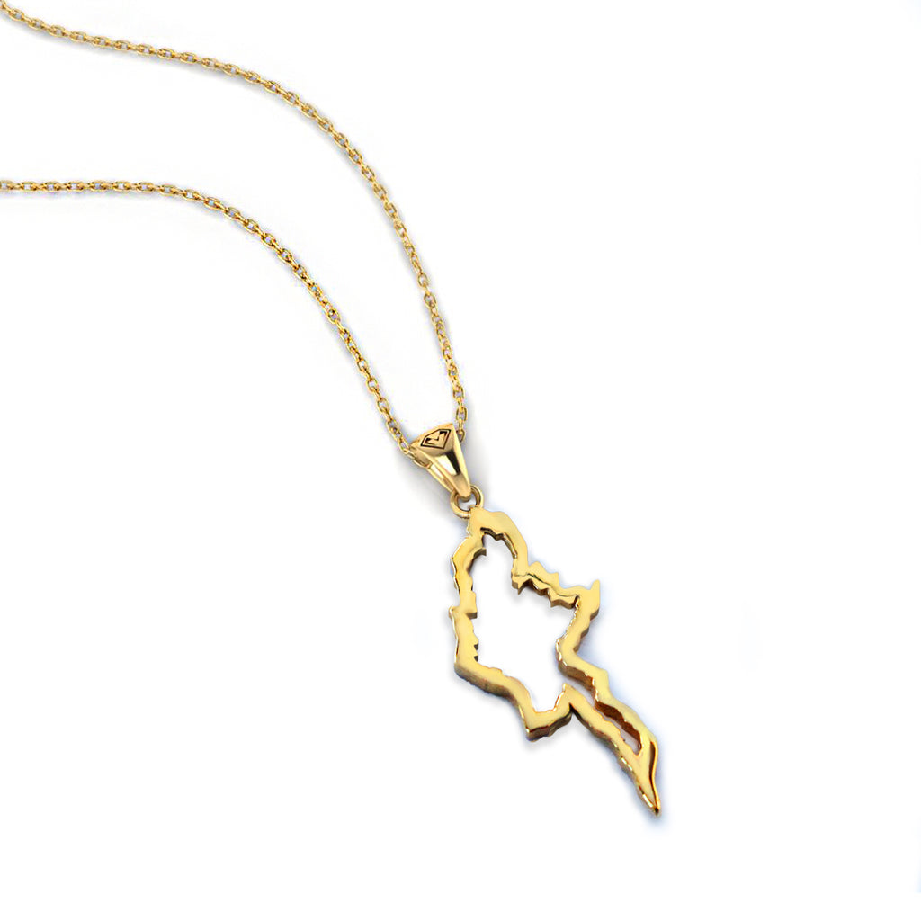 Myanmar Map Necklace (Large)