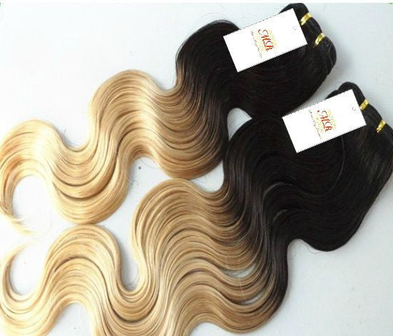 PREMIUM Body Wave 2-tone Ombre - Madame Rouge Extensions