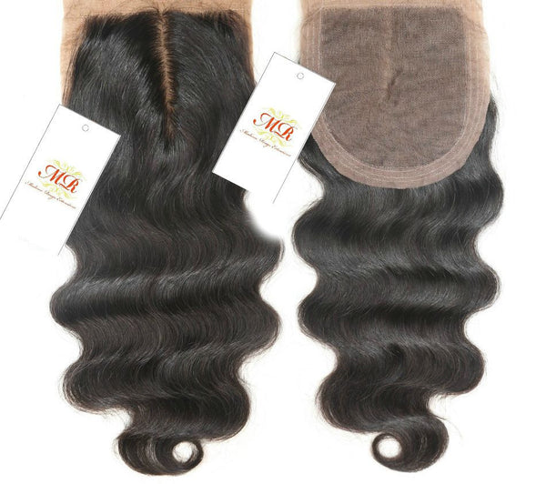 Middle-part silk base Closures - Madame Rouge Extensions