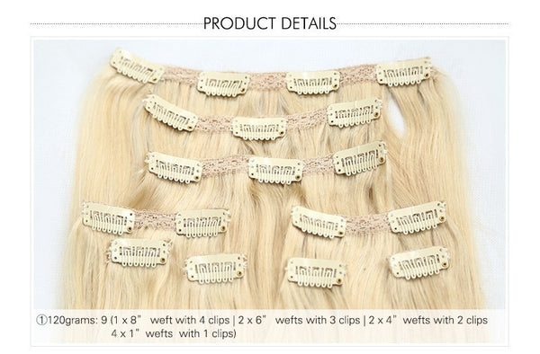 100% PREMIUM Remy Clip-in Hair Extensions - Madame Rouge Extensions  - 3
