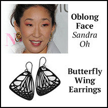 oblong face shape sandra oh butterfly wing earrings los angeles sherman oaks ventura boulevard