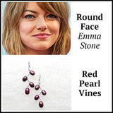 round face emma stone vines earrings
