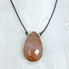 norosesjewelry.com - Los Angeles - Big Drop Carnelian Gemstone Necklace