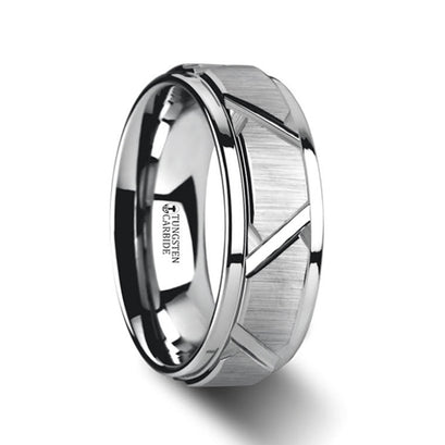 norosesjewelry.com - Los Angeles - Vestige Silver Tungsten Ring with Triangle Design