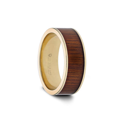 Wood and Gold Wedding Band