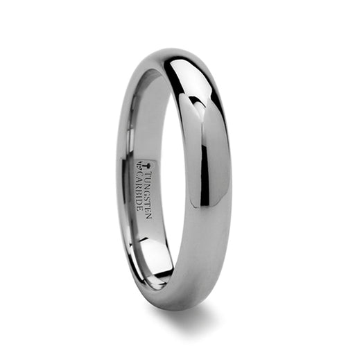 norosesjewelry.com - Los Angeles - Dominus Domed Silver Tungsten Carbide Band Ring