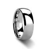 Dominus Domed Silver Tungsten Carbide Band Ring