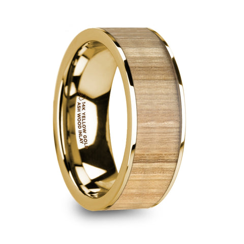 norosesjewelry.com - Los Angeles - Tobias Gold and Ash Wood Men's Wedding Band