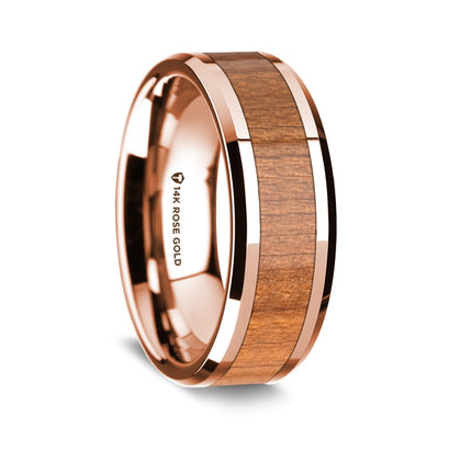 norosesjewelry.com - Los Angeles - 14k Rose Gold and Cherrywood Band Ring