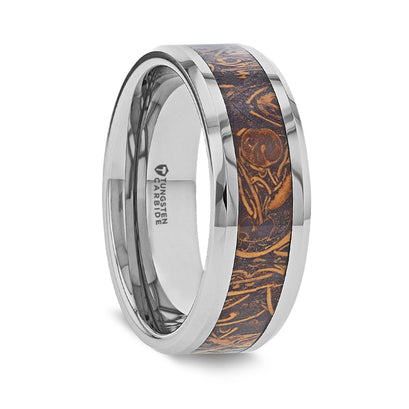 norosesjewelry.com - Los Angeles - Abba Sanskrit Stone and Silver Tungsten Ring