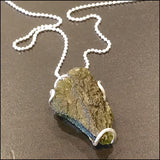 Moldavite Pendant for Asher , Necklace - No Roses Custom, No Roses Jewelry Artisan Jewelry Los Angeles - 8