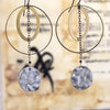 norosesjewelry.com - Los Angeles - Lunar Drops Mixed Metal Hoop Earrings Statement Earrings