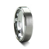 norosesjewelry.com - Los Angeles - Silver Tungsten Carbide Ring with Raised Center