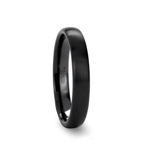 norosesjewelry.com - Los Angeles - Attor Round Brushed Black Ceramic Ring