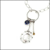 Herkimer Diamond, Iolite and 18k Gold Necklace , Necklace - Judy Morgan, No Roses Jewelry Artisan Jewelry Los Angeles