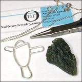 Moldavite Pendant for Asher , Necklace - No Roses Custom, No Roses Jewelry Artisan Jewelry Los Angeles - 5
