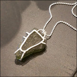 Moldavite Pendant for Asher , Necklace - No Roses Custom, No Roses Jewelry Artisan Jewelry Los Angeles - 9