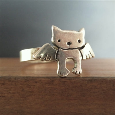 norosesjewelry.com - Los Angeles - Sterling Silver Angel Cat Ring