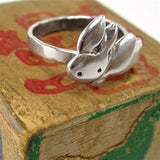 Sterling Silver Love Bunny Ring