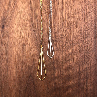 norosesjewelry.com - Los Angeles - Medium Kite Necklace, Gold Long