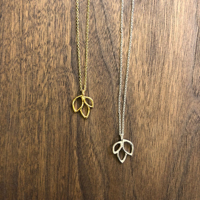 norosesjewelry.com - Los Angeles - Mini Lotus Necklace, Sterling Silver or Gold