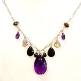 Custom Fine Amethyst and 14k Gold Necklace for Charles
