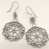 Mandala 01 Sterling Silver Earrings