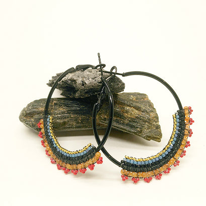 norosesjewelry.com - Los Angeles - Hoop Earrings with Sunset Fringe