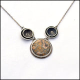 Orbital Jasper and Sterling Necklace , Necklace - Erin Austin, No Roses Jewelry Artisan Jewelry Los Angeles - 1