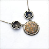 Orbital Jasper and Sterling Necklace , Necklace - Erin Austin, No Roses Jewelry Artisan Jewelry Los Angeles - 3