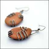 Terra Cotta Beach Pottery Earrings Large , Earrings - Erin Austin, No Roses Jewelry Artisan Jewelry Los Angeles - 3