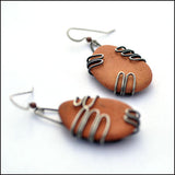Terra Cotta Beach Pottery Earrings Large , Earrings - Erin Austin, No Roses Jewelry Artisan Jewelry Los Angeles - 4