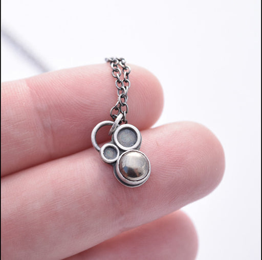Tiny Orb Pyrite Necklace , Necklace - Erin Austin, No Roses Jewelry Artisan Jewelry Los Angeles - 1