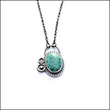 Green Malachite and Blackened Sterling Necklace , Necklace - Erin Austin, No Roses Jewelry Artisan Jewelry Los Angeles - 2