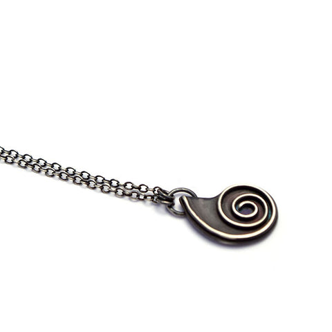 norosesjewelry.com - Los Angeles - Seaside Nautilus Necklace Oxidized Sterling Silver