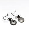 norosesjewelry.com - Los Angeles - Sea Urchin Earrings Blackened Sterling Silver Earrings with Black Onyx