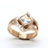 norosesjewelry.com - Los Angeles - Custom Rose Gold and Moonstone Engagement Ring for Marilyn
