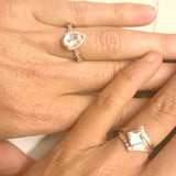 Custom Rose Gold and Moonstone Engagement Ring for Marilyn