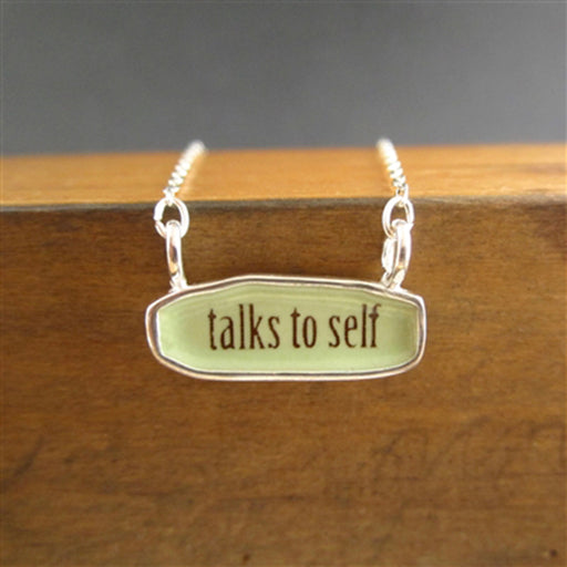 norosesjewelry.com - Los Angeles - Talks to Self Pendant