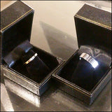 White Gold Wedding Bands for Muddy and Noelle , rings - No Roses Custom, No Roses Jewelry Artisan Jewelry Los Angeles
