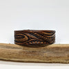 norosesjewelry.com - Los Angeles - Medium Leather Cuff with Leaf Design