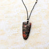 norosesjewelry.com - Los Angeles - Red Jasper Shield Pendant