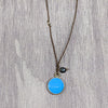 norosesjewelry.com - Los Angeles - Turquoise Silver and Blue Pearl Pendant