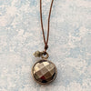 norosesjewelry.com - Los Angeles - Pyrite and Diamond Pendant